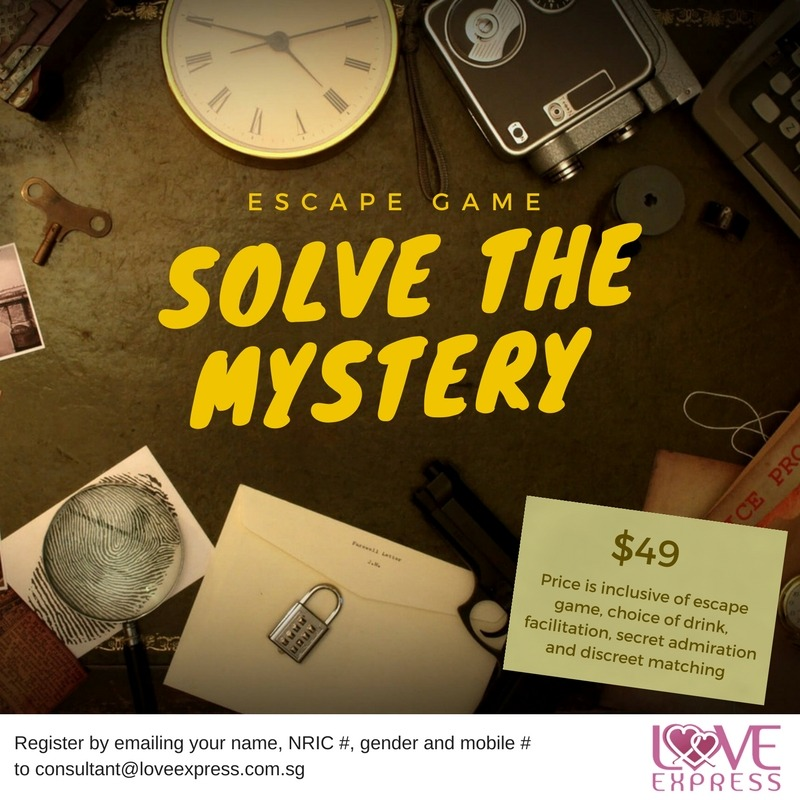 26 AUG: NEW VENUE! ESCAPE GAME SERIES - SOLVE THE MYSTERY - Love Express