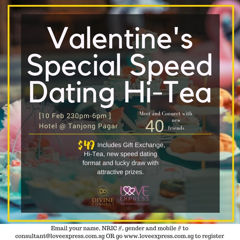 10 Feb Valentine S Special Speed Dating Hi Tea Love Express